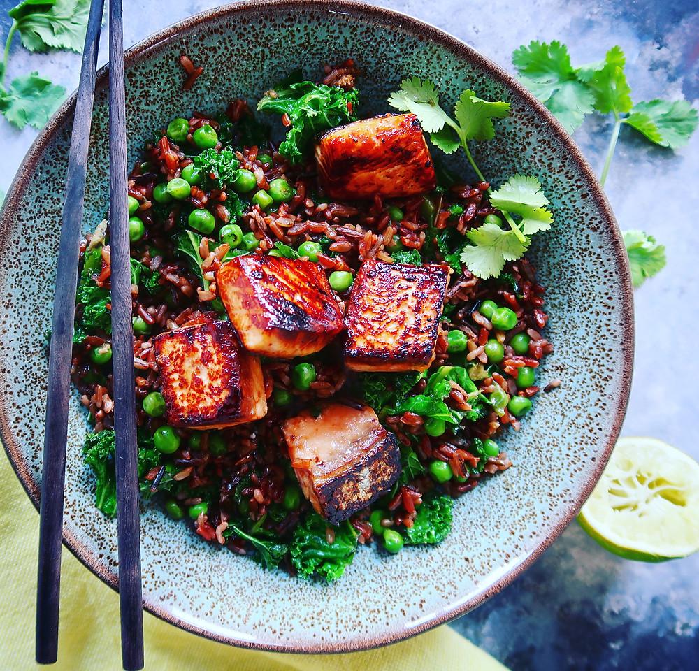 Asian Salmon & Wild Rice Bowl