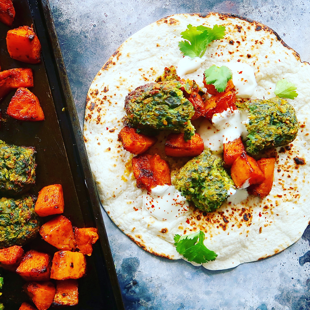 Veggie Kofta & Butternut Squash Wrap