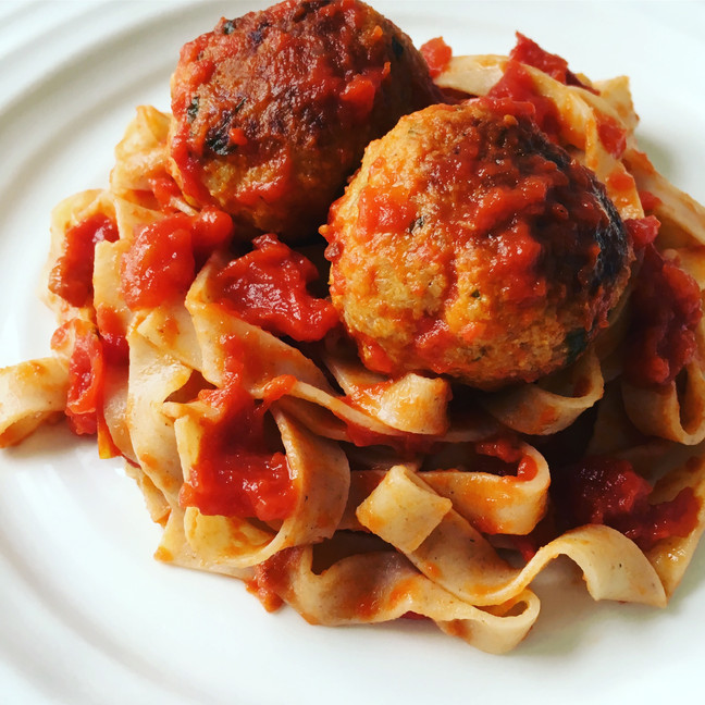 Pork Meatballs in Traditional Tomato Sauce