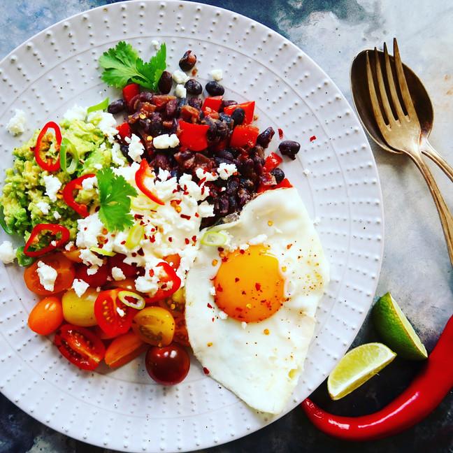 Huevos Rancheros Warm Salad