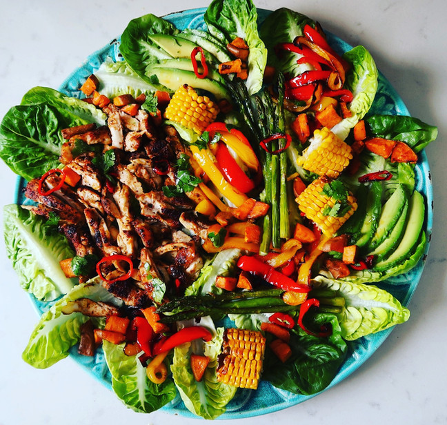 Blackened Chicken Winter Salad