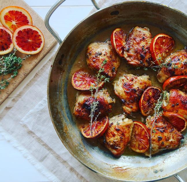 Blood Orange & Thyme Roast Chicken