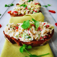 Crab Toasts with Chilli, Lime & Coriander