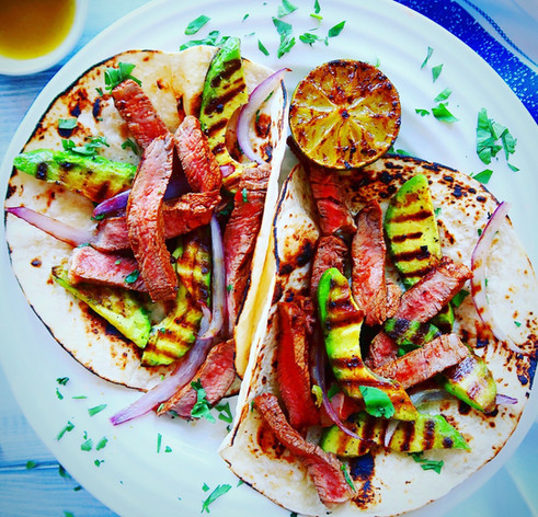 Spicy Steak & Grilled Avocado Tacos
