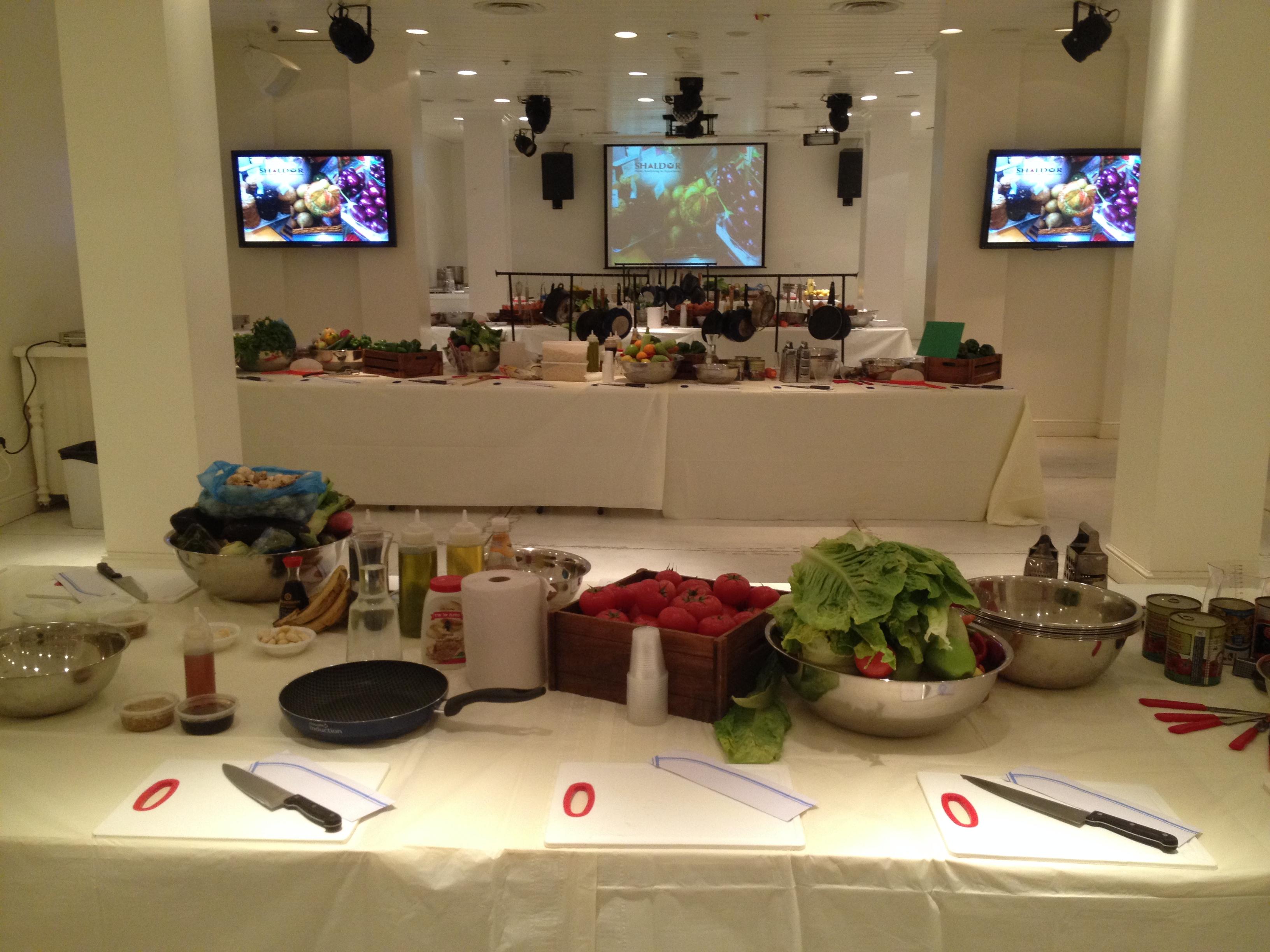 אירוע חברה בסגנון תחרות בישול