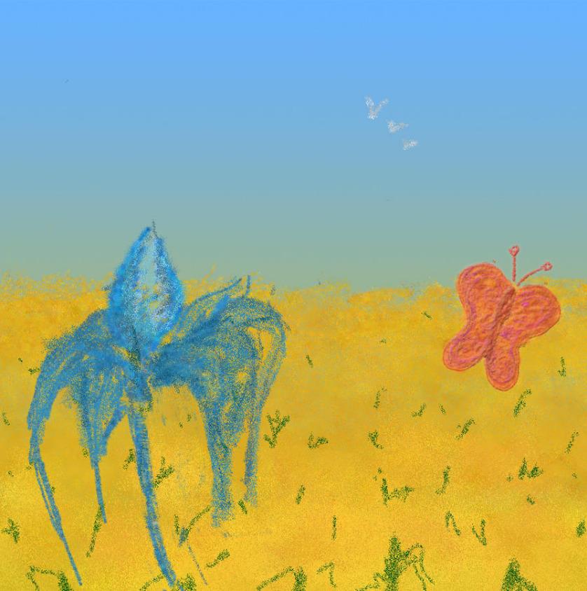 פרפר ופרח- פריים מתוך אנמצייה