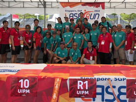 Thank you for all the Volunteers, NTO & EXCO to make UIPM Global Laser-Run City Tour - Singapore