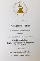 Al Walser Grammy Trophy