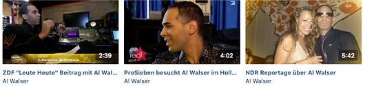 Al Walser on television