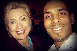 Al Waser with secretary of state Hillary Clinton