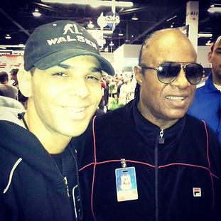 Al Walser and Stevie Wonder