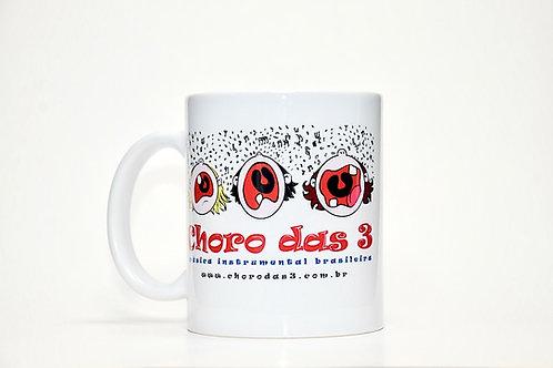 """Caneca em Cerâmica """"3 Carinhas"""""""
