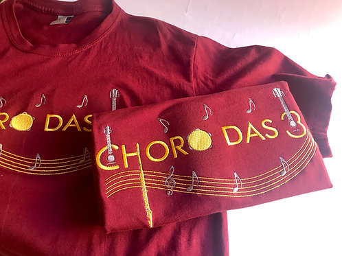 Camiseta Choro das 3 - Instrumentinhos - Manga Curta