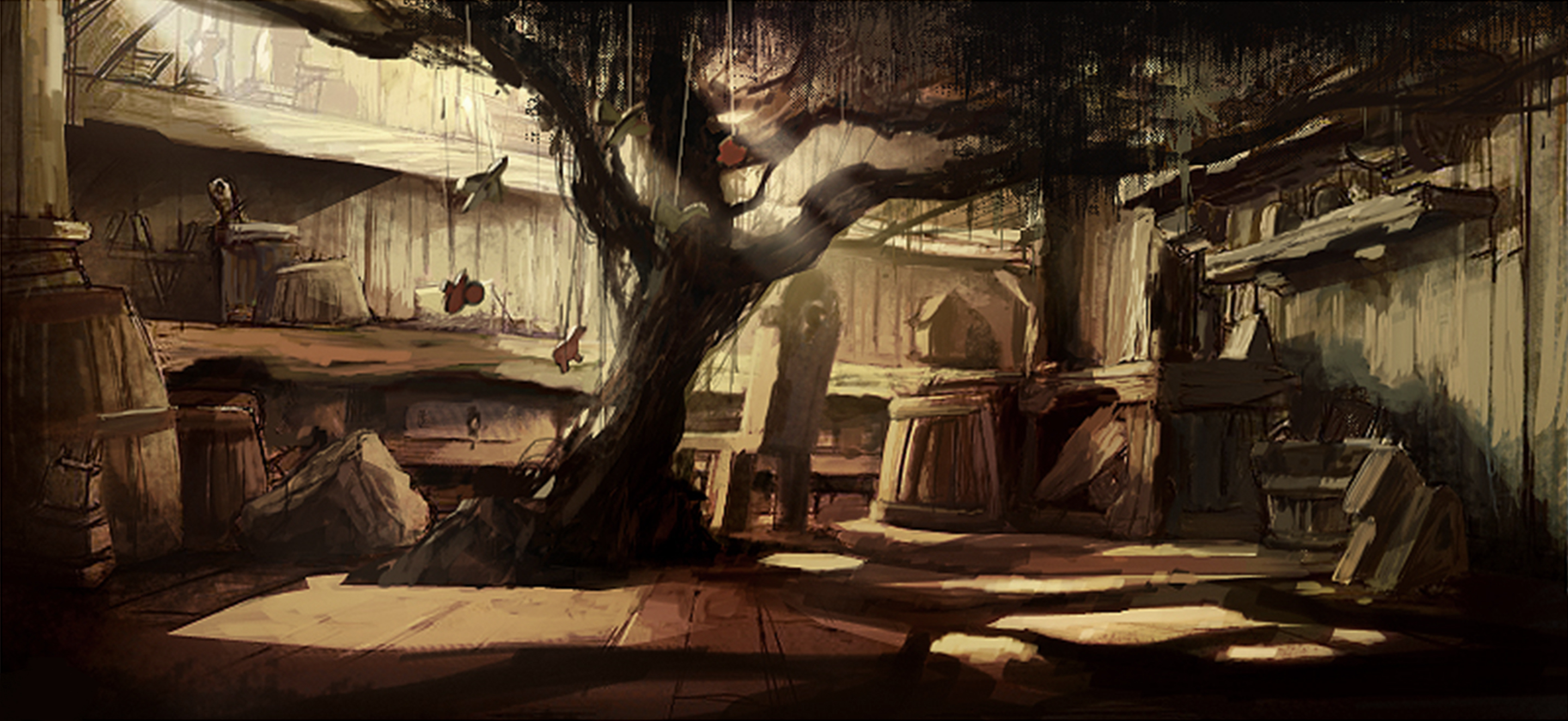 Workshop Interior-sketch