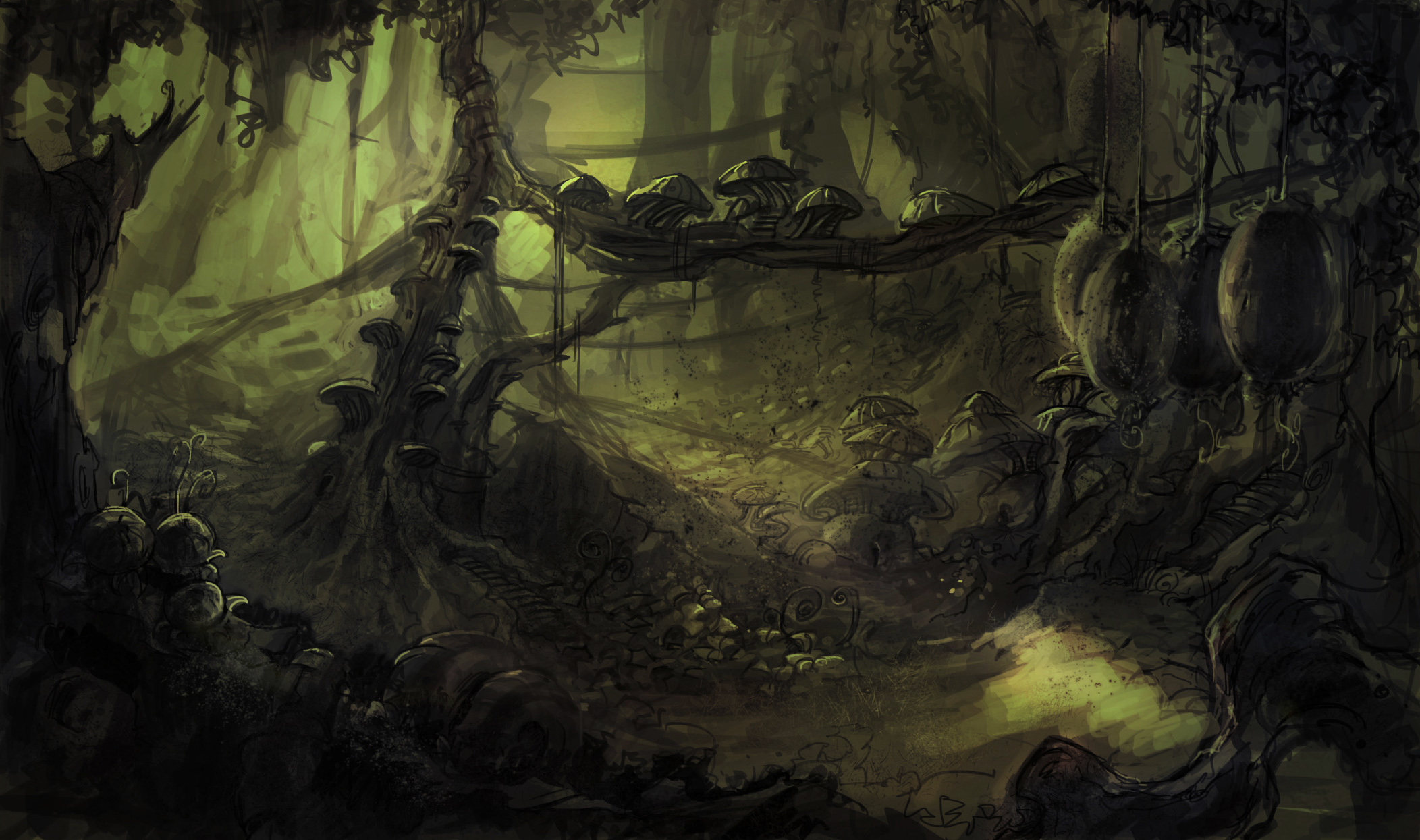 Fantasy Forest-Film visual development