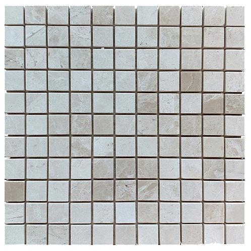 """Botticino Polished 1"""" x 1"""" Marble Mosaic Tile"""