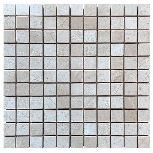 "Crema Nouva Polished 1"" x 1"" Marble Mosaic Tile"