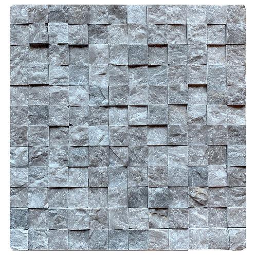 """Silver Split Face 1"""" x 1"""" Marble Mosaic Tile"""