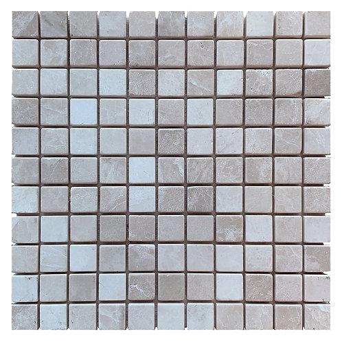 """Botticino Tumbled 1"""" x 1"""" Marble Mosaic Tile"""