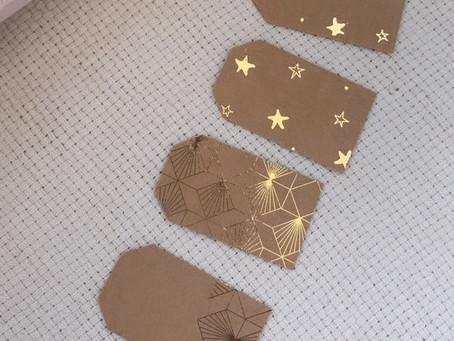 Easy DIY gold foil tags!