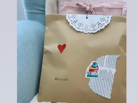 A gift wrap using an A4 envelope.
