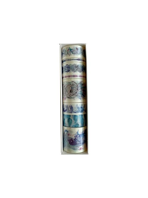Blue washi tape set 2
