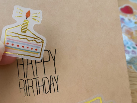 Very easy and quick birthday card!