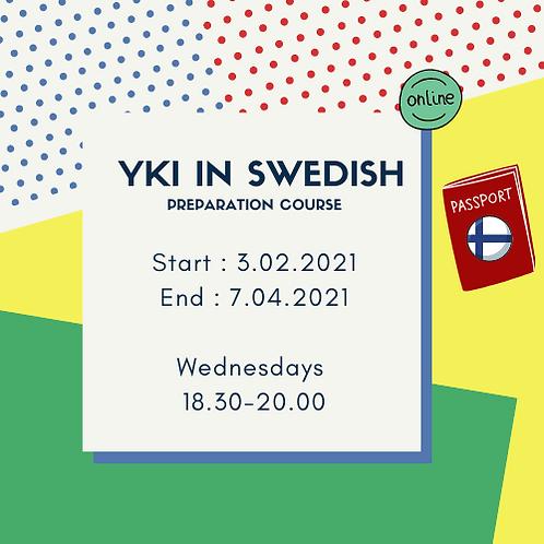 Preparation for YKI-exam on Swedish, group2