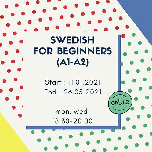 Beginner course (A1-A2), 4.5 months, evenings