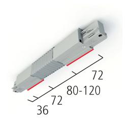 Accouplement flexible - pour rail eutrack