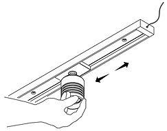 Rail Magnetic - Déplacement d'un Spot LED-s