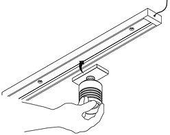 Rail Magnetic - Mise en place d'un Spot LED-s