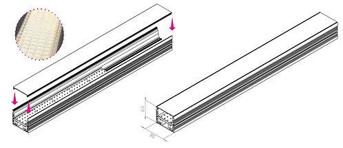 Rail TPF avec écran prismatique - 24VDC / Code Article : TPF-R