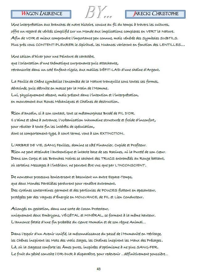COMPTE RENDU POINTILLISME LITTERAIRE LAURENCE WAGON DE JARECKI CHRISTOPHE