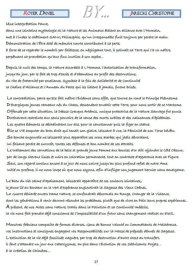 TEXTE POINTILLISME LITTERAIRE DANIEL ROYER DE JARECKI  CHRISTOPHE