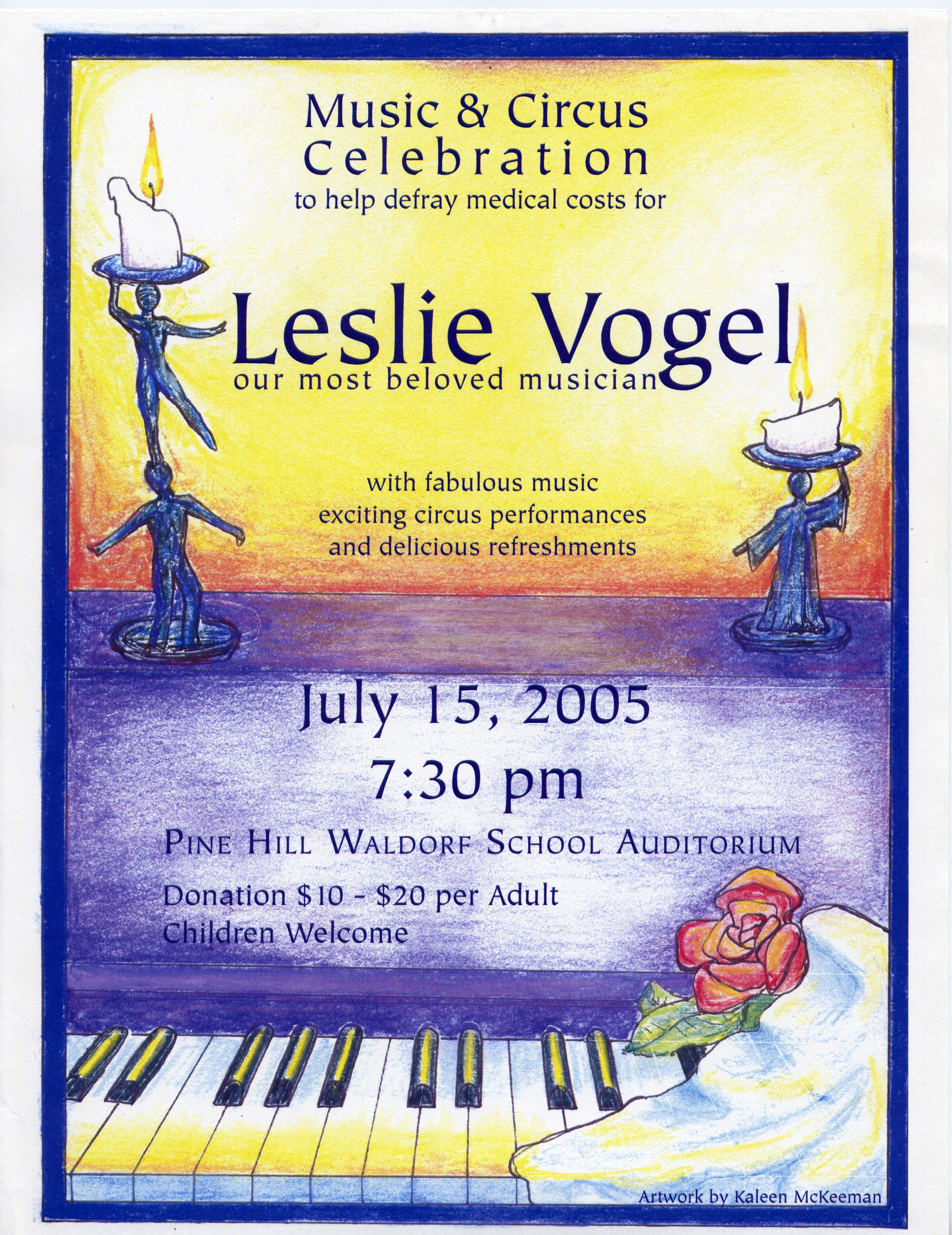 Benefit for Leslie Vogel July 2005