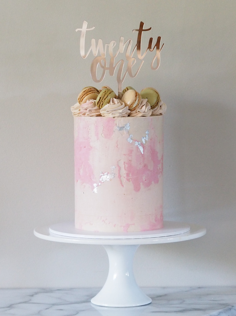 Pink 21st cake