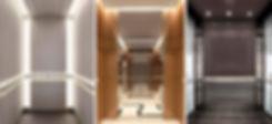 пассажирский лифт класса бизнес, кабина, интерьер