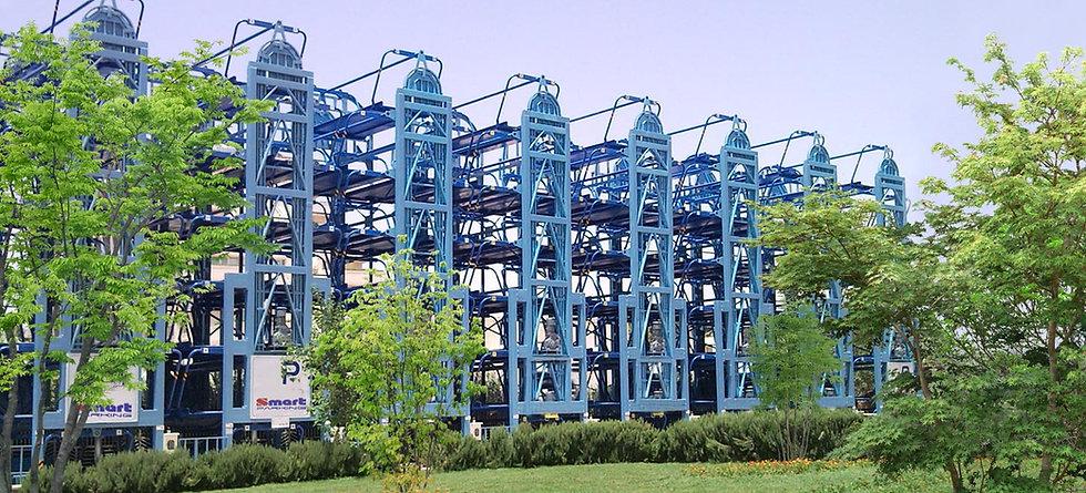 полуавтоматическая механизированная парковка