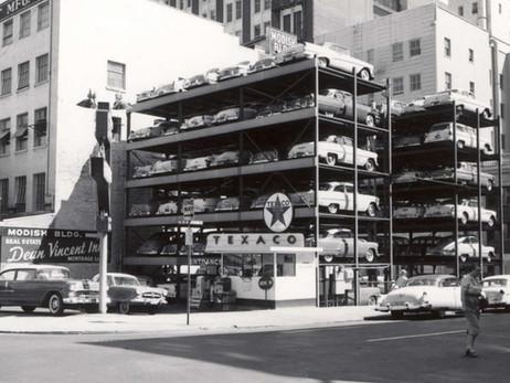 Самая первая механизированная парковка в мире
