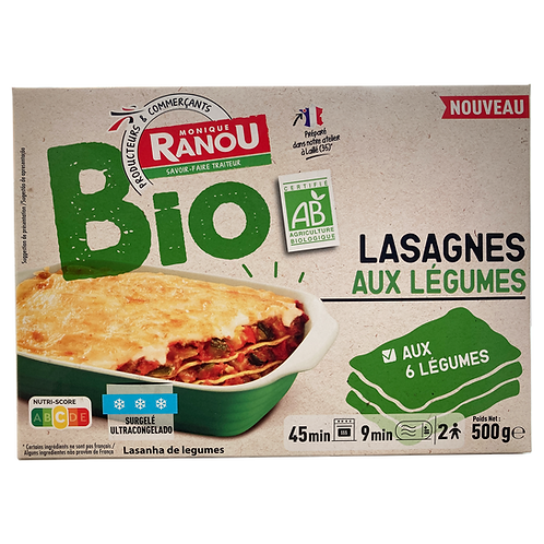 Organic Vegetable Lasagna