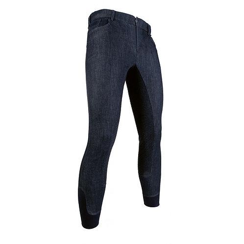 Pantalon homme HKM Denim fond en silicone
