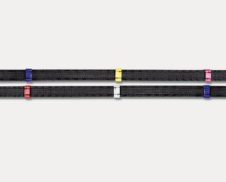Waldhausen X-Line Rênes anti-glisse avec arrêtoirs de couleur