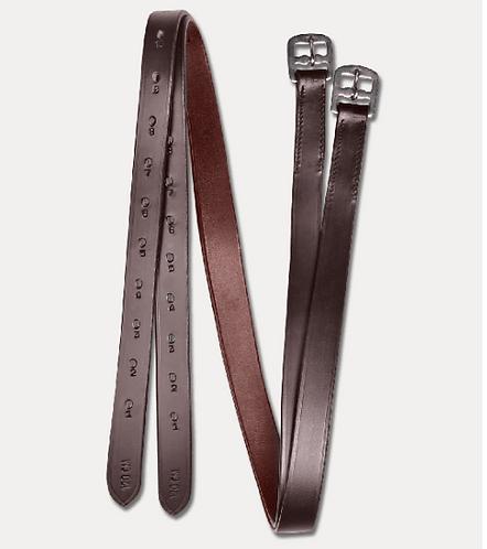 STAR Etrivières - Largeur : 2,5 cm / Cuir Brun 150 cm