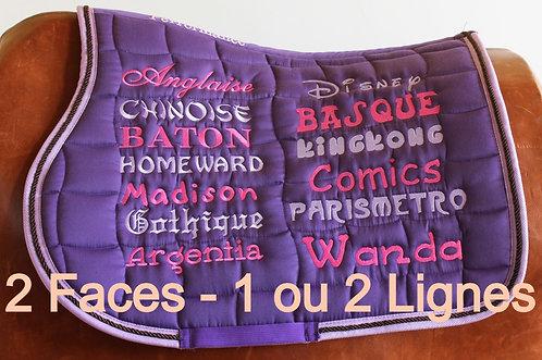 Broderie Tapis Lettrage 2 Côtés