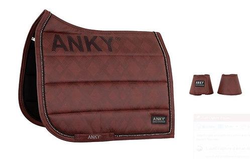 Ensemble ANKY® Tapis et Cloches Check Pearl Dressage XB20001 Garnet Red ou Noir