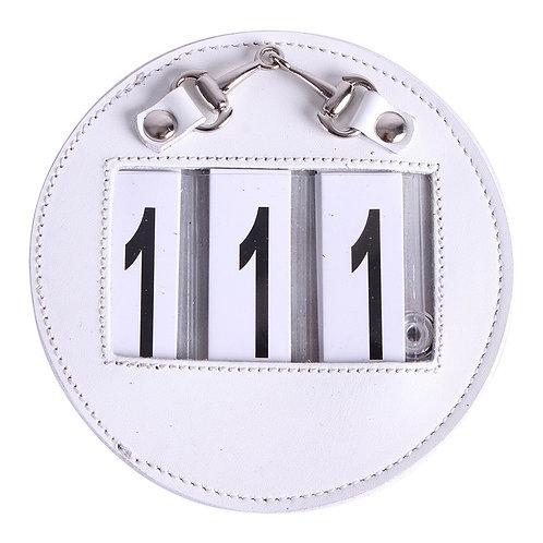 Porte numéro 3 chiffres Cuir Brun, Noir ou Blanc
