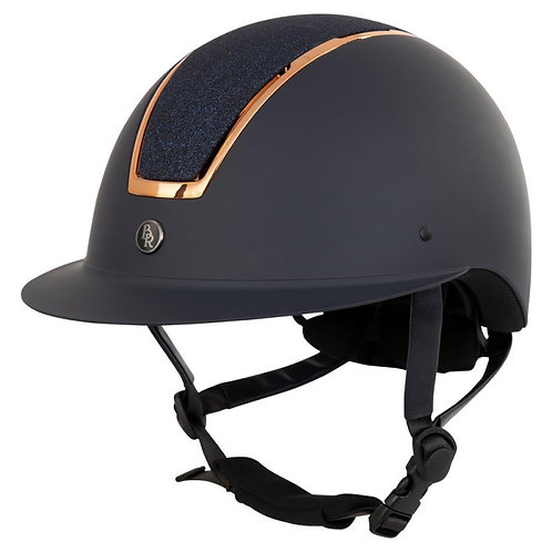 Casque BR Omega Painted Navy Rose 52/54