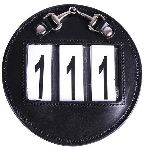 Porte numéro 3 chiffres Cuir Brun ou Noir