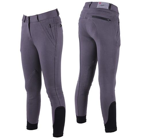 Pantalon d'équitation Evan JUNIOR antidérapant Taille 164 cm Gris